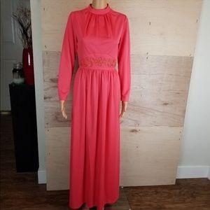 Vintage 50's 60's Union Made Maxi Dress